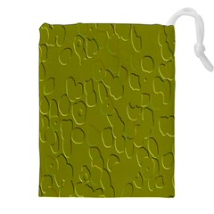 Olive Bubble Wallpaper Background Drawstring Pouches (xxl)