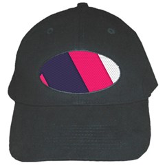 Pink Pattern Black Cap
