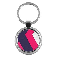 Pink Pattern Key Chains (round)