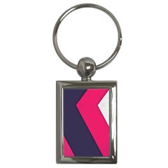 Pink Pattern Key Chains (Rectangle)