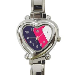 Pink Pattern Heart Italian Charm Watch