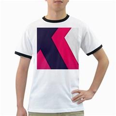 Pink Pattern Ringer T-Shirts