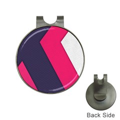 Pink Pattern Hat Clips with Golf Markers