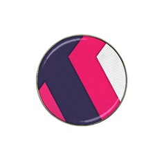 Pink Pattern Hat Clip Ball Marker (4 pack)