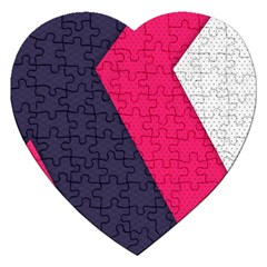 Pink Pattern Jigsaw Puzzle (heart)