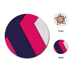 Pink Pattern Playing Cards (round)