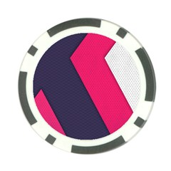 Pink Pattern Poker Chip Card Guard (10 Pack)