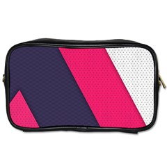 Pink Pattern Toiletries Bags