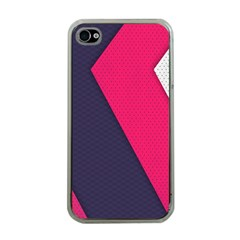 Pink Pattern Apple iPhone 4 Case (Clear)