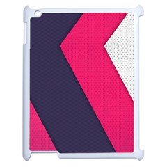 Pink Pattern Apple iPad 2 Case (White)