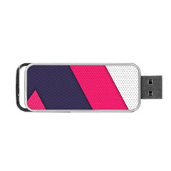 Pink Pattern Portable USB Flash (Two Sides)