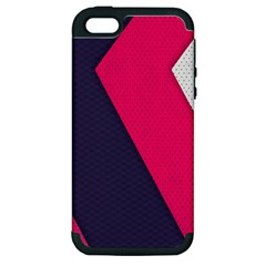 Pink Pattern Apple iPhone 5 Hardshell Case (PC+Silicone)