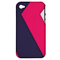 Pink Pattern Apple iPhone 4/4S Hardshell Case (PC+Silicone)