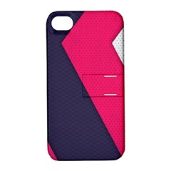 Pink Pattern Apple iPhone 4/4S Hardshell Case with Stand