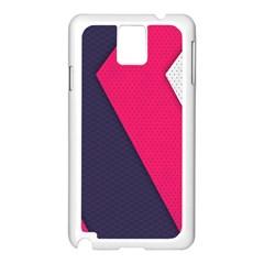 Pink Pattern Samsung Galaxy Note 3 N9005 Case (White)