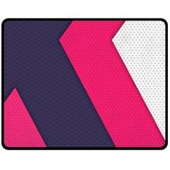 Pink Pattern Double Sided Fleece Blanket (Medium)