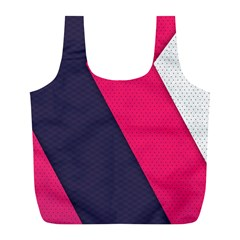 Pink Pattern Full Print Recycle Bags (l)