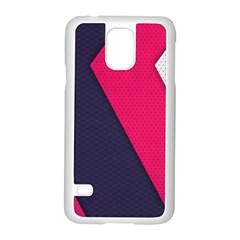 Pink Pattern Samsung Galaxy S5 Case (White)