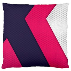 Pink Pattern Large Flano Cushion Case (One Side)
