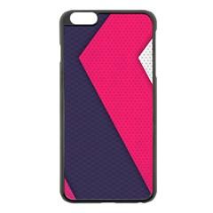 Pink Pattern Apple iPhone 6 Plus/6S Plus Black Enamel Case