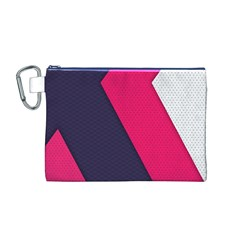 Pink Pattern Canvas Cosmetic Bag (M)