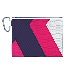 Pink Pattern Canvas Cosmetic Bag (L)