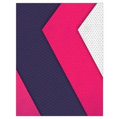 Pink Pattern Drawstring Bag (Large)