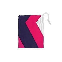 Pink Pattern Drawstring Pouches (XS)
