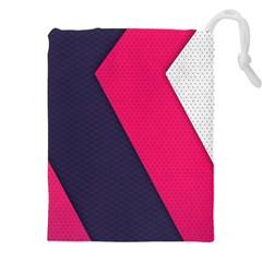Pink Pattern Drawstring Pouches (XXL)