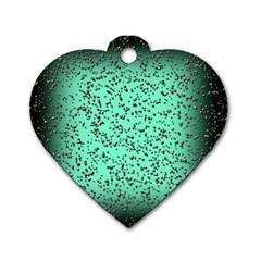 Grunge Rain Frame Dog Tag Heart (Two Sides)
