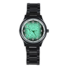 Grunge Rain Frame Stainless Steel Round Watch