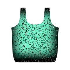 Grunge Rain Frame Full Print Recycle Bags (M)