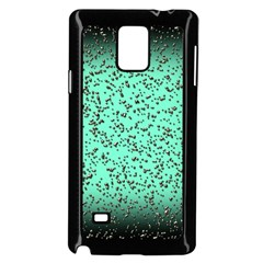 Grunge Rain Frame Samsung Galaxy Note 4 Case (Black)