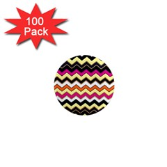 Colorful Chevron Pattern Stripes Pattern 1  Mini Magnets (100 pack)