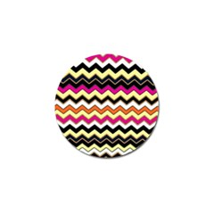 Colorful Chevron Pattern Stripes Pattern Golf Ball Marker