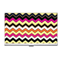Colorful Chevron Pattern Stripes Pattern Business Card Holders