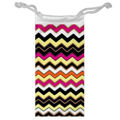 Colorful Chevron Pattern Stripes Pattern Jewelry Bag