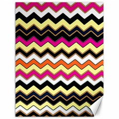 Colorful Chevron Pattern Stripes Pattern Canvas 12  x 16