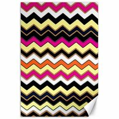 Colorful Chevron Pattern Stripes Pattern Canvas 20  X 30