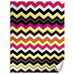 Colorful Chevron Pattern Stripes Pattern Canvas 36  x 48