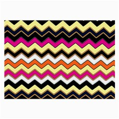 Colorful Chevron Pattern Stripes Pattern Large Glasses Cloth (2 Side)