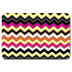 Colorful Chevron Pattern Stripes Pattern Large Doormat