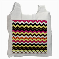 Colorful Chevron Pattern Stripes Pattern Recycle Bag (one Side)