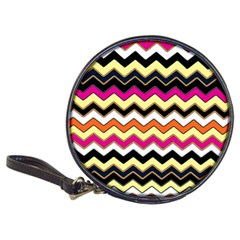 Colorful Chevron Pattern Stripes Pattern Classic 20 Cd Wallets