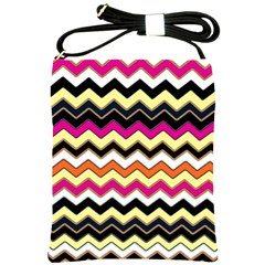Colorful Chevron Pattern Stripes Pattern Shoulder Sling Bags