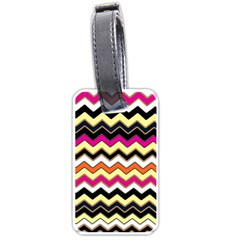 Colorful Chevron Pattern Stripes Pattern Luggage Tags (One Side)