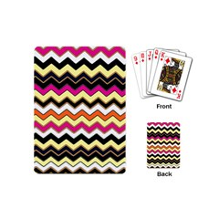Colorful Chevron Pattern Stripes Pattern Playing Cards (mini)