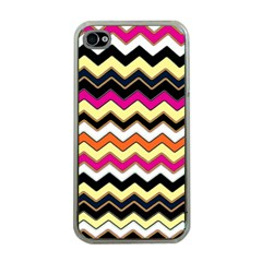 Colorful Chevron Pattern Stripes Pattern Apple iPhone 4 Case (Clear)