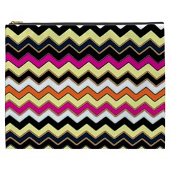 Colorful Chevron Pattern Stripes Pattern Cosmetic Bag (XXXL)