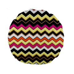 Colorful Chevron Pattern Stripes Pattern Standard 15  Premium Round Cushions